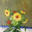 """Simple modern Hand painted oil painting on canvas""""Potted flowers""""50x60CM(19.7""""x23.6"""")Unframed-27"""