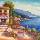"Hand painted oil painting on canvas""Sea view Villa""60x120CM(23.6""x47.2"")Unframed-42"