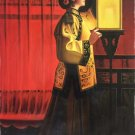 """Chinese style Hand painted oil painting on canvas""""Chinese beauty""""60x90CM(23.6""""x35.4"""")Unframed-08"""