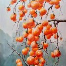 """Hand painted oil painting on canvas""""persimmon""""60x90CM(23.6""""x35.4"""")Unframed-11"""