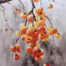 """Hand painted oil painting on canvas""""persimmon""""60x90CM(23.6""""x35.4"""")Unframed-12"""