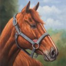 """Hand painted oil painting on canvas""""Akhal-teke horses""""50x60CM(19.7""""x23.6"""")Unframed-14"""