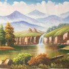 "Hand painted oil painting on canvas""Mountain and water""70x180CM(27.6""x70.9"")Unframed-66"