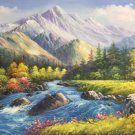 "American style Hand painted oil painting on canvas""Creek""80x160CM(31.5""x63.0"")Unframed-74"