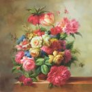 """Simple modern Hand painted oil painting on canvas""""Flowers""""80x80CM(31.5""""x31.5"""")Unframed-31"""