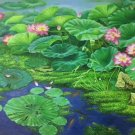 "Chinese style Hand painted oil painting on canvas""lotus""90x180CM(35.4""x70.9"")Unframed-07"
