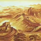 "Chinese style Hand painted oil painting on canvas""Great Wall""70x180CM(27.6""x70.9"")Unframed-01"
