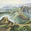 "Chinese style Hand painted oil painting on canvas""Great Wall""70x180CM(27.6""x70.9"")Unframed-02"