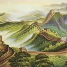 "Chinese style Hand painted oil painting on canvas""Great Wall""70x180CM(27.6""x70.9"")Unframed-03"