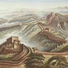 """Chinese style Hand painted oil painting on canvas""""Great Wall""""70x180CM(27.6""""x70.9"""")Unframed-04"""