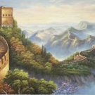 "Chinese style Hand painted oil painting on canvas""Great Wall""70x180CM(27.6""x70.9"")Unframed-05"