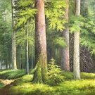 "American style Hand painted oil painting on canvas""forest""70x180CM(27.6""x70.9"")Unframed-26"