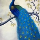 "Simple modern Hand painted oil painting on canvas""Gorgeous peacock""60x90CM(23.6""x35.4"")Unframed-11"