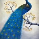 "Simple modern Hand painted oil painting on canvas""Gorgeous peacock""60x90CM(23.6""x35.4"")Unframed-12"