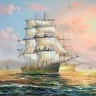 "Simple modern Hand painted oil painting on canvas""Adventure sailboat""60x90CM(23.6""x35.4"")Unframed-15"