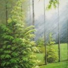 """Simple modern Hand painted oil painting on canvas""""swan""""60x120CM(23.6""""x47.2"""")Unframed-10"""