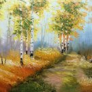 """Nordic style Hand painted oil painting on canvas""""forest""""60x90CM(23.6""""x35.4"""")Unframed-28"""