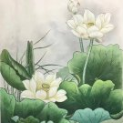 """Chinese style Hand painted oil painting on canvas""""lotus""""50x60CM(19.7""""x23.6"""")Unframed-14"""