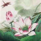 "Chinese style Hand painted oil painting on canvas""lotus""50x60CM(19.7""x23.6"") Unframed-15"
