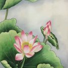 """Chinese style Hand painted oil painting on canvas""""lotus""""50x60CM(19.7""""x23.6"""")Unframed-17"""