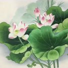 """Chinese style Hand painted oil painting on canvas""""lotus""""50x60CM(19.7""""x23.6"""")Unframed-19"""