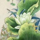 "Chinese style Hand painted oil painting on canvas""lotus""50x60CM(19.7""x23.6"") Unframed-22"