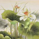 "Chinese style Hand painted oil painting on canvas""lotus""50x60CM(19.7""x23.6"") Unframed-23"