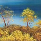 """American style Hand painted oil painting on canvas""""Creek""""50x100CM(19.7""""x39.4inch)Unframed-81"""