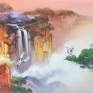 """Hand painted oil painting on canvas""""Mountains and rivers unlimited""""70x180CM(27.6""""x70.9"""")Unframed-14"""