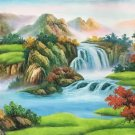 """Hand painted oil painting on canvas""""Mountains and rivers unlimited""""70x180CM(27.6""""x70.9"""")Unframed-86"""