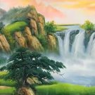 """Hand painted oil painting on canvas""""Mountains and rivers unlimited""""70x180CM(27.6""""x70.9"""")Unframed-90"""