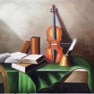 "Simple modern Hand painted oil painting on canvas""violin""60x90CM(23.6""x35.4"")Unframed-02"