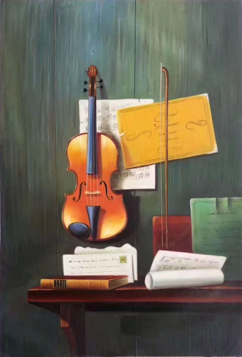 """Simple modern Hand painted oil painting on canvas""""violin""""60x90CM(23.6""""x35.4"""")Unframed-06"""