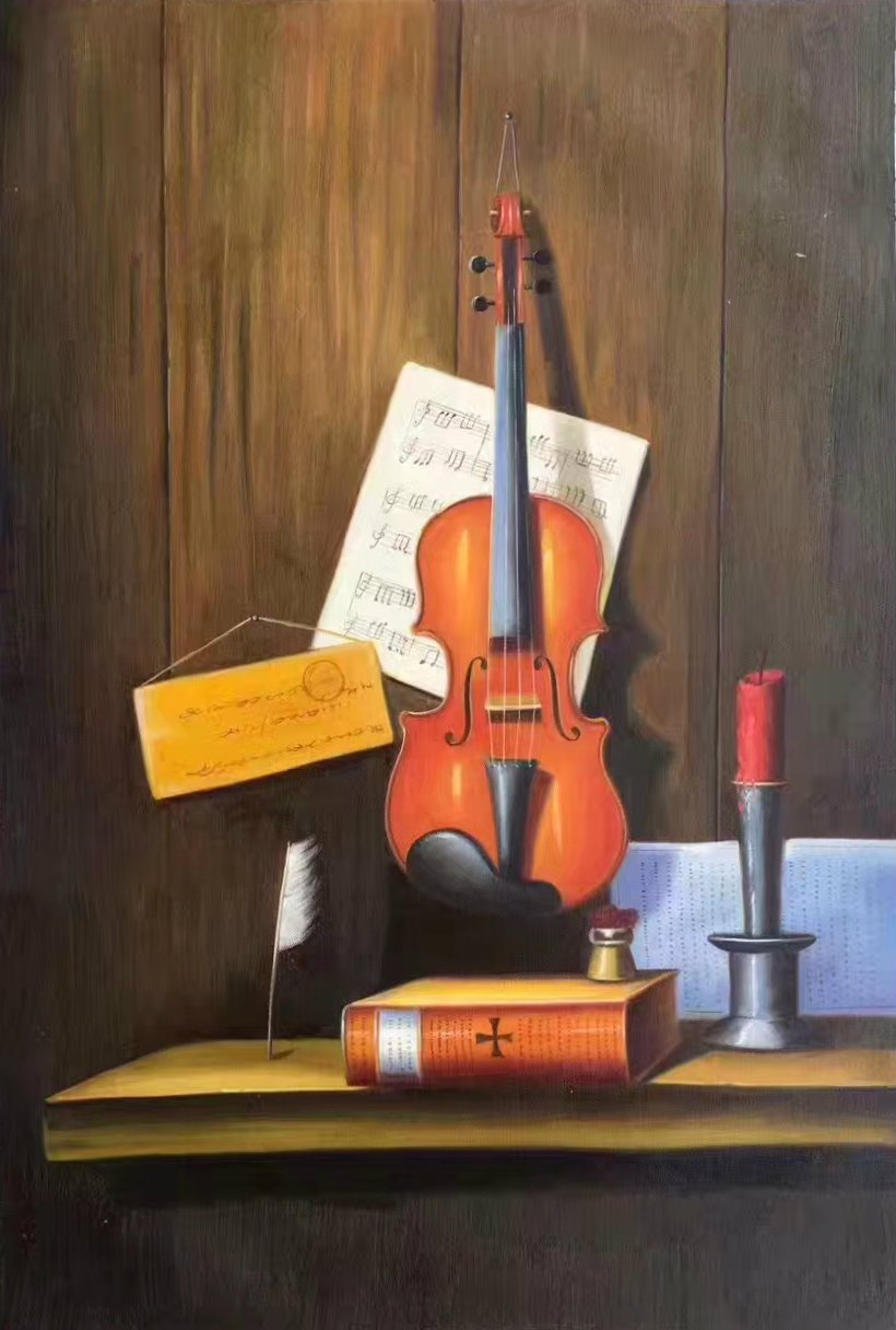 "Simple modern Hand painted oil painting on canvas""violin""60x90CM(23.6""x35.4"")Unframed-07"
