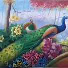 """Simple modern Hand painted oil painting on canvas""""Gorgeous peacock""""60x120CM(23.6""""x47.2"""")Unframed-15"""