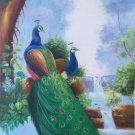 "Simple modern Hand painted oil painting on canvas""Gorgeous peacock""60x120CM(23.6""x47.2"")Unframed-18"