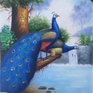 "Simple modern Hand painted oil painting on canvas""Gorgeous peacock""60x120CM(23.6""x47.2"")Unframed-19"
