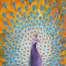 """Simple modern Hand painted oil painting on canvas""""Gorgeous peacock""""60x120CM(23.6""""x47.2"""")Unframed-27"""