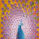 """Simple modern Hand painted oil painting on canvas""""Gorgeous peacock""""60x120CM(23.6""""x47.2"""")Unframed-28"""