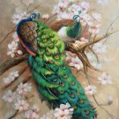 """Simple modern Hand painted oil painting on canvas""""Gorgeous peacock""""90x120CM(35.4""""x47.2"""")Unframed-30"""