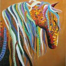 """Simple modern Hand painted oil painting on canvas""""Abstract horse""""90x120CM(35.4""""x47.2"""")Unframed-28"""