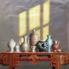 "Chinese style Hand painted oil painting on canvas""ceramics""75x100CM(29.5""x39.4"")Unframed-20"