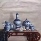 "Chinese style Hand painted oil painting on canvas""ceramics""75x100CM(29.5""x39.4"")Unframed-22"