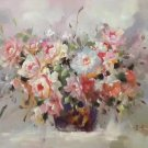 """Simple modern Hand painted oil painting on canvas""""Potted flowers""""60x90CM(23.6""""x35.4"""")Unframed-45"""