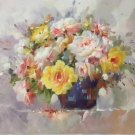 """Simple modern Hand painted oil painting on canvas""""Potted flowers""""60x90CM(23.6""""x35.4"""")Unframed-46"""