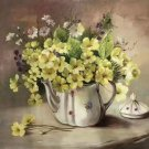 """Simple modern Hand painted oil painting on canvas""""Potted flowers""""50x60CM(19.7""""x23.6"""")Unframed-39"""