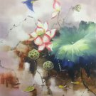 "Chinese style Hand painted oil painting on canvas""lotus""60x90CM(23.6""x35.4"")Unframed-33"