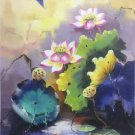 "Chinese style Hand painted oil painting on canvas""lotus""60x90CM(23.6""x35.4"")Unframed-34"