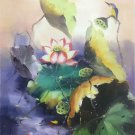 """Chinese style Hand painted oil painting on canvas""""lotus""""60x90CM(23.6""""x35.4"""")Unframed-35"""