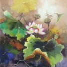 "Chinese style Hand painted oil painting on canvas""lotus""60x90CM(23.6""x35.4"")Unframed-36"